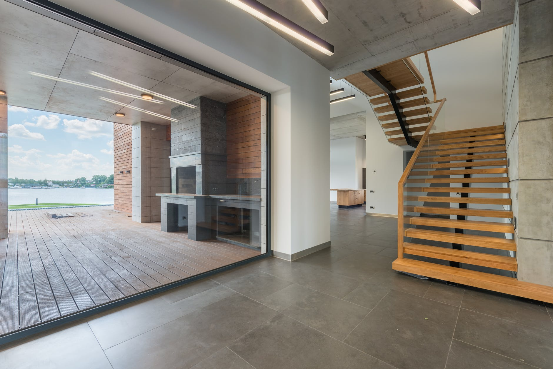 miestnosť, schody